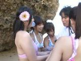 A group of fancy Japanese AV Models fuck horny guy outdoors