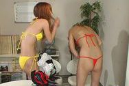 Hot Japanese office babes gets down and dirtyasian boobs, hot tits