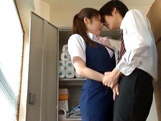 Naughty Office MILF Yui Hoshino Sucks Dick During Work