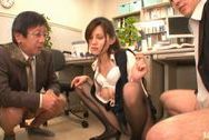 Hot   Ameri Ichinose performs extreme double blowjobboobs tits, asian tits