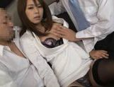 Beautiful Japanese secretary rides cock picture 2