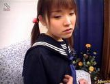Schoolgirl Manami Yuuki gets cum in her mouth picture 5