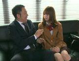 Akiho Yoshizawa Naughty girl likes sucking mature cock
