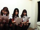 Kinky group of schoolgirls takes dildoes and vibrators in them pussyes. picture 2