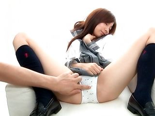 Miyu Akimoto Hot Asian student spreads her legs