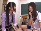 Sugary Asian schoolgirls  cock with hands and mouths picture 2