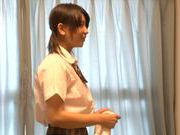 Japanese AV model is a teen having naughty sex