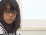 Schoolgirl Yuika Seno Daydreams Of A Threesome In Class picture 10