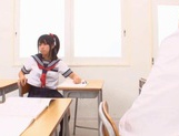 Schoolgirl Yuika Seno Daydreams Of A Threesome In Class picture 13