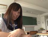 Submissive hussy Yuuki Itano gets her shaved pussy fucked picture 12