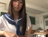 Submissive hussy Yuuki Itano gets her shaved pussy fucked