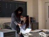 Riko Tachibana lesbian teacher spanking