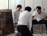 Two Students Get Sucked By MILF Teacher Haruki Sato