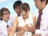 Sexy Yui Ooba pleases two male in awesome threesome picture 13