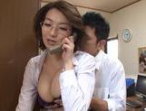 Mio Takahashi hot mature Japanese model gets tits licked picture 12