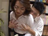 Mio Takahashi hot mature Japanese model  gets tits licked picture 5