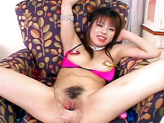 Busty Babe's Pussy Vibrated And Eats A Cum Covered Snack