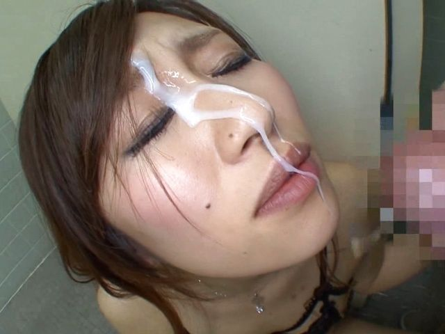 Erika Inamoto Gets A Facial While Masturbating In A Bathroom
