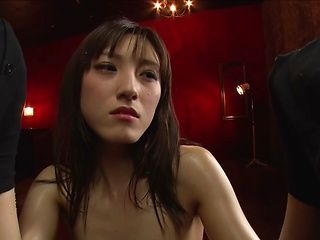Luscious Japanese milf Kanako Iioka gives a double blowjob on close-up