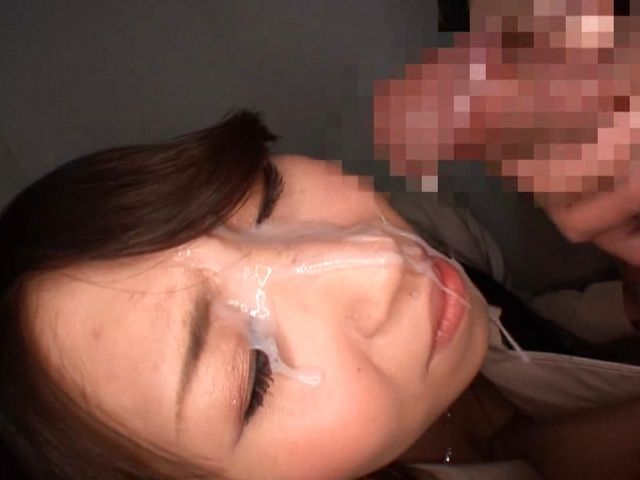 Cumming In Public, Haruna Nakayama Gets A Facial As Well