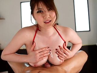 horny Japanese nurse Momoka Nishina gets oily with her patient