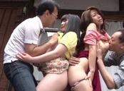 Ayumi Shinoda, and Momo Watanabe group action porn show