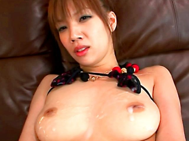 Squirter Akina Ishika Gets Off As Guys Cum On Her