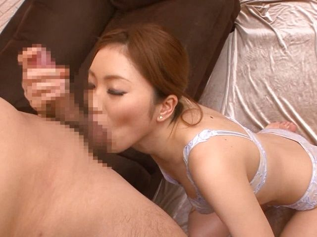 Rina Kato Sucks His Dick Dry While In Her Bra And Panties