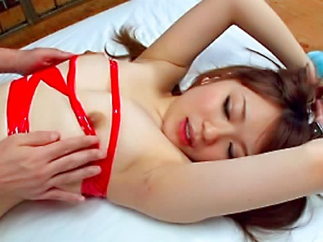 Riona Minami tied up and fucked hard!