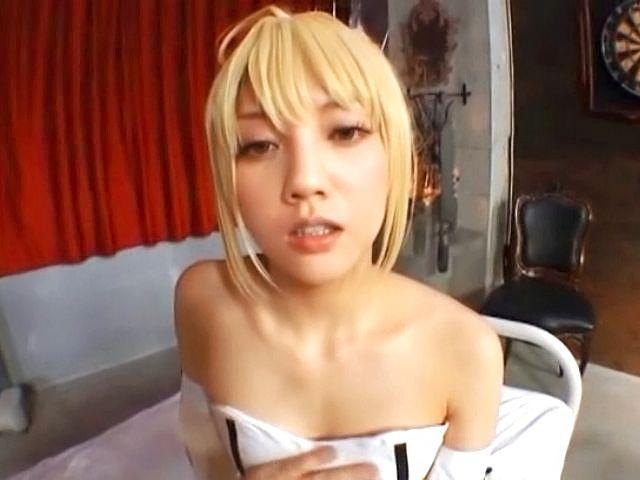Japanese doll enjoying full asian pov cosplay fuck scene