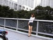 Sexy Asian doll exposed outdoors for hot sex