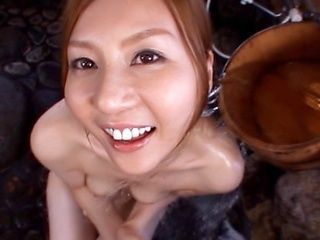 Yui Tatsumi sucks and swallows tons of cum!