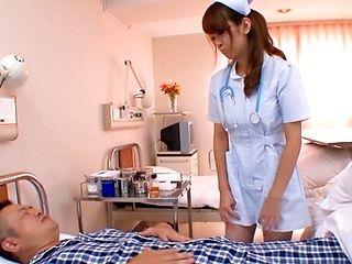 Sayaka Fukuyama Hot Asian nurse sucks cock