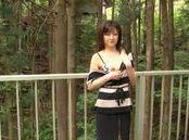 Ai Komori nice Asian teen gives a hot blowjob outdoors