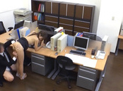 Harsh fuck at the office for sleazy Japanese cutie