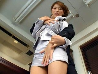 Nami Hoshino amazing mature Asian babe fucks hard